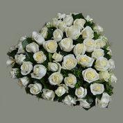 Hart roosjes groot (40-45cm)